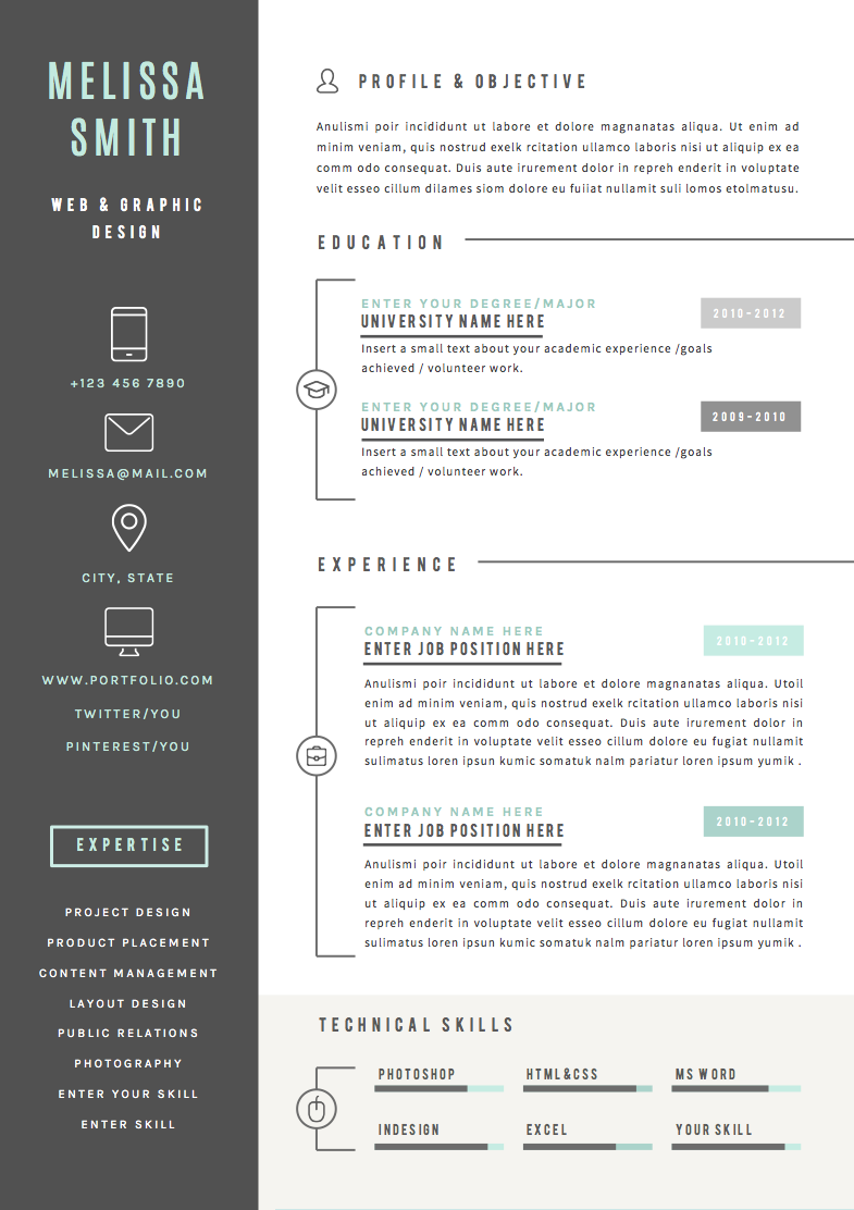 Resume Template 4 page pack Iconic Cv template, Resume