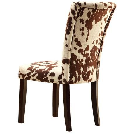 Prime Homebelle Set Of 2 Cowhide Print Side Chairs Interior Squirreltailoven Fun Painted Chair Ideas Images Squirreltailovenorg