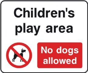 Children S Play Area No Dogs Allowed Sign Kids Play Area Playground Safety Play Area
