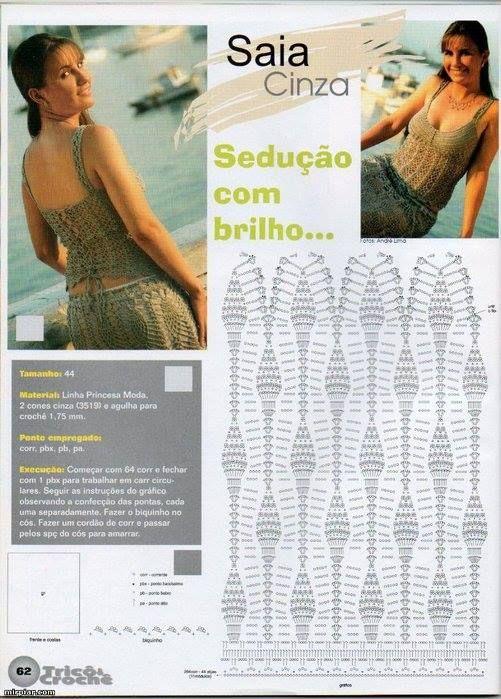 Puntada de falda | 1 Patrones crochet ropa adulto | Pinterest ...
