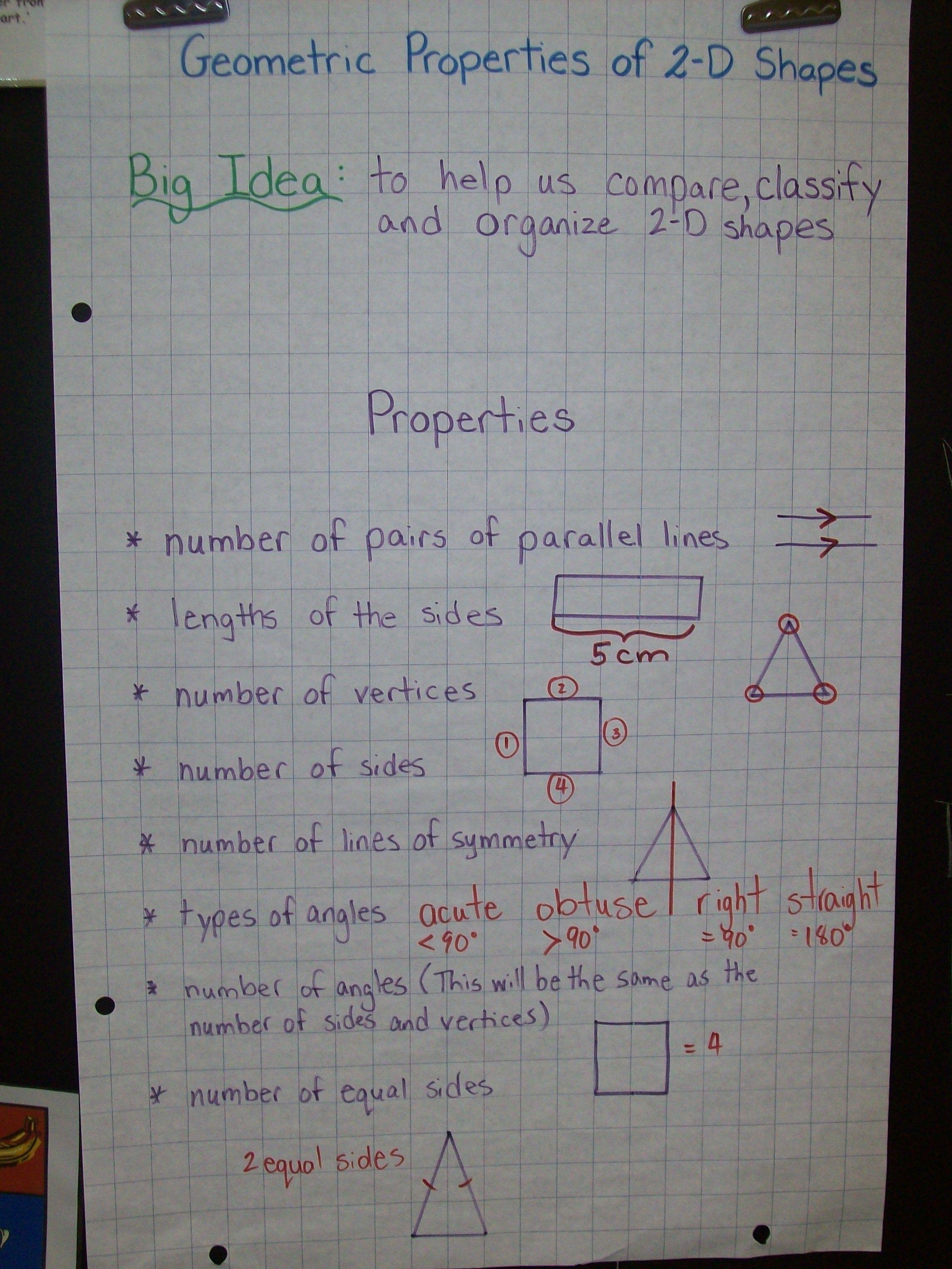 Geometric Properties Of 2 D Shapes