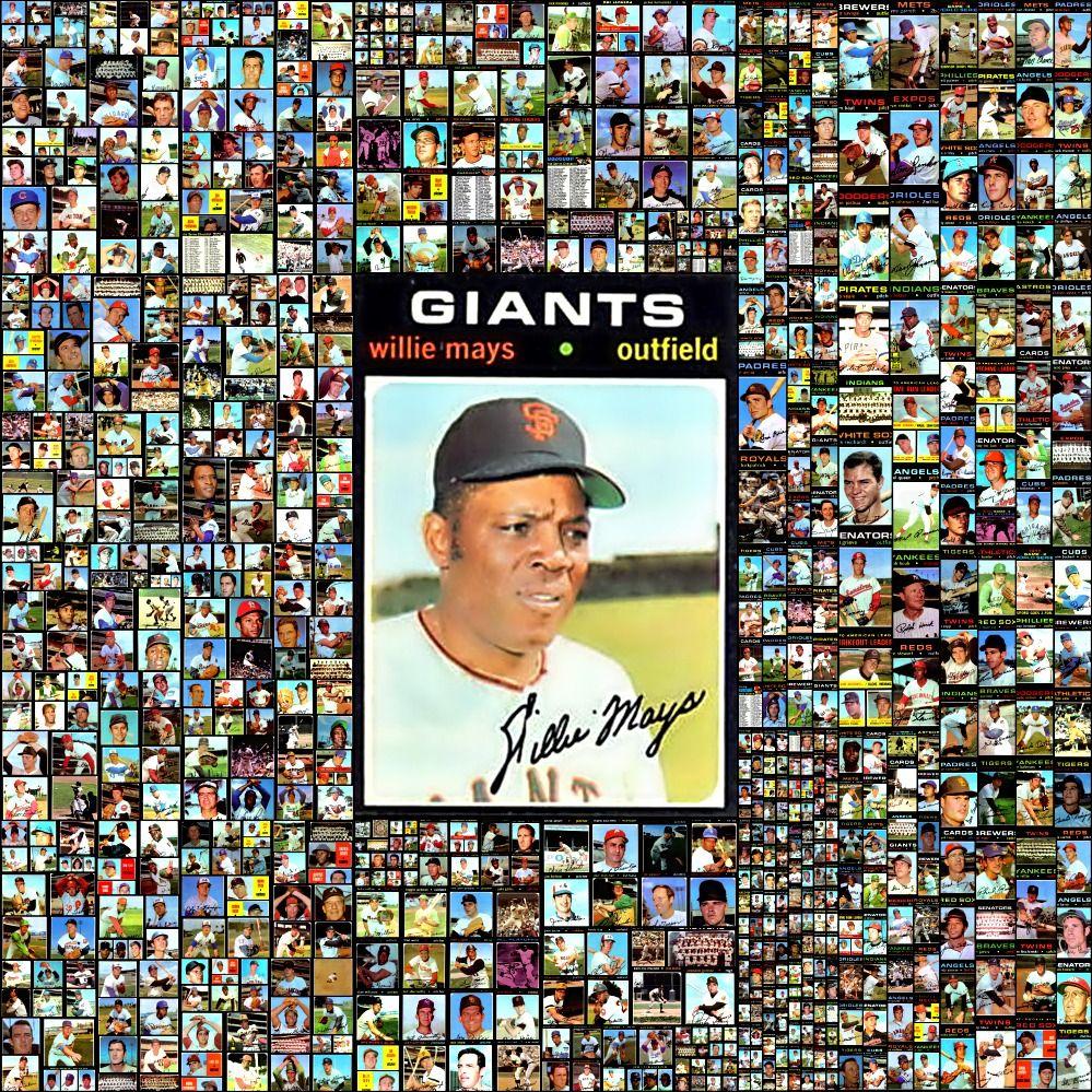 1971 topps baseball cards complete set collage baseball