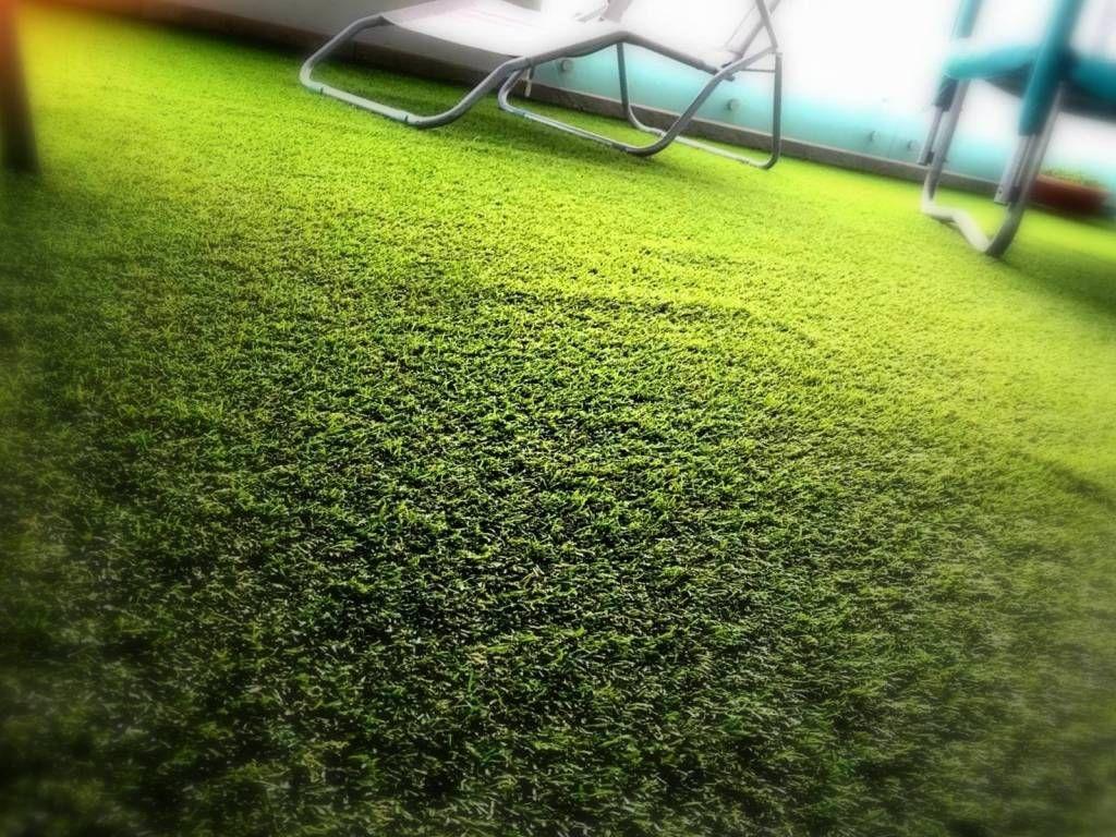 Terrazzo di casa in erba sintetica | Idee Abitative | Terrazzo di ...
