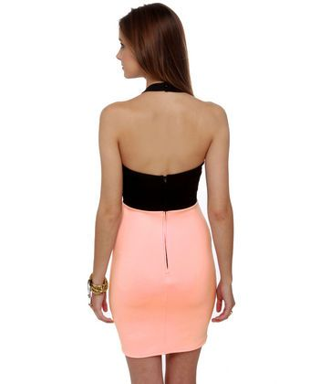 Cut for the Chase Black and Pink Dress