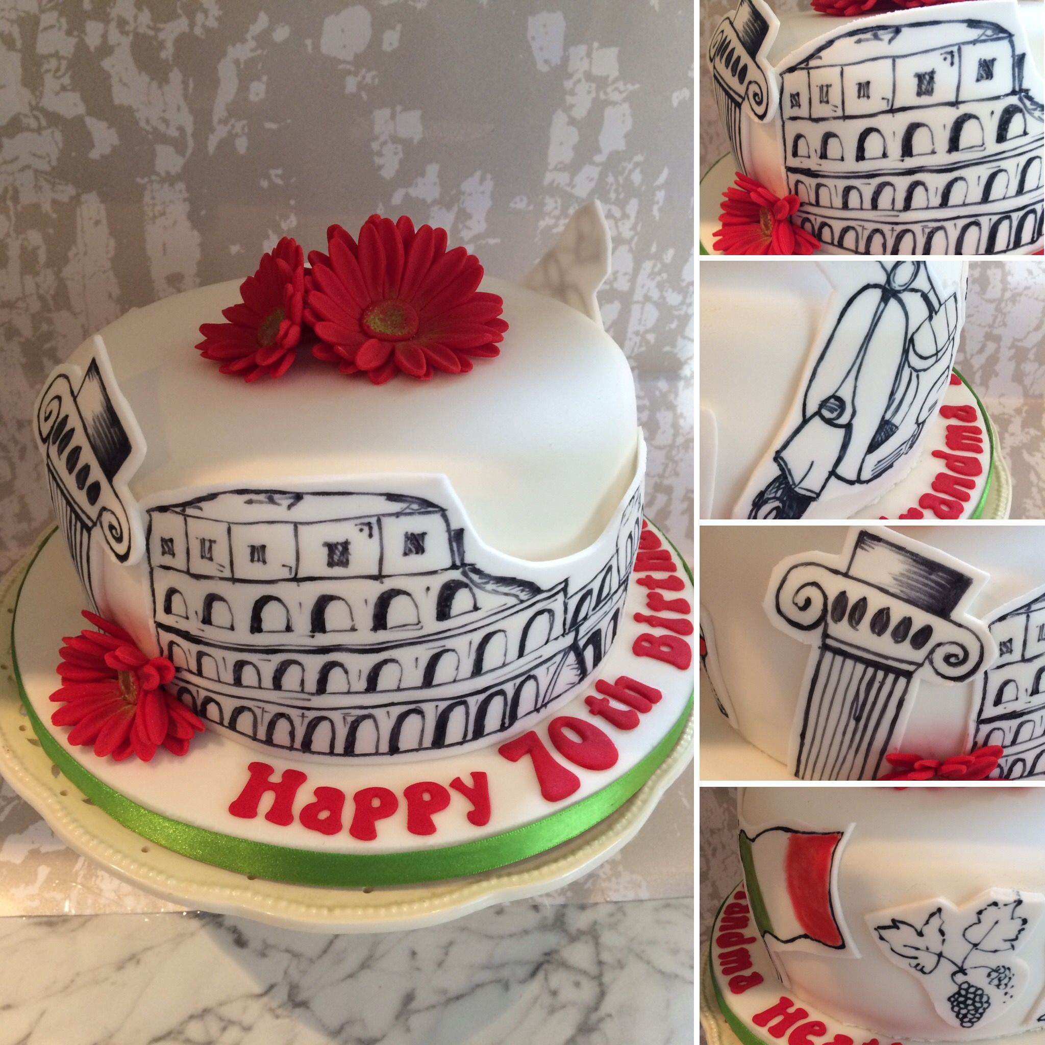 Italian italy theme birthday cake cake birthday cake