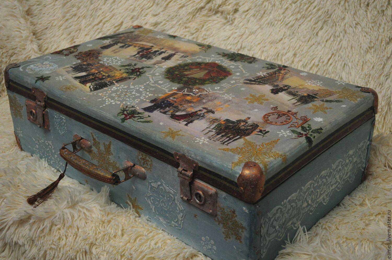 Мастер-классы по созданию декоративных элементов на шкатулке и чемодане в технике декупаж