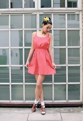 Red stroppy back dress