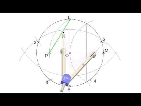 Curso De Dibujo Técnico Pentágono Regular Inscrito En Una Circunferencia Youtube Curso De Dibujo Tecnico Técnicas De Dibujo Pentagono