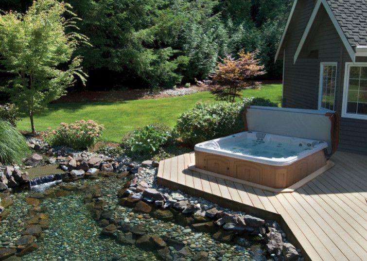 Backyard Spa Backyard Designs With Spa Pool Design Ideas In 2020