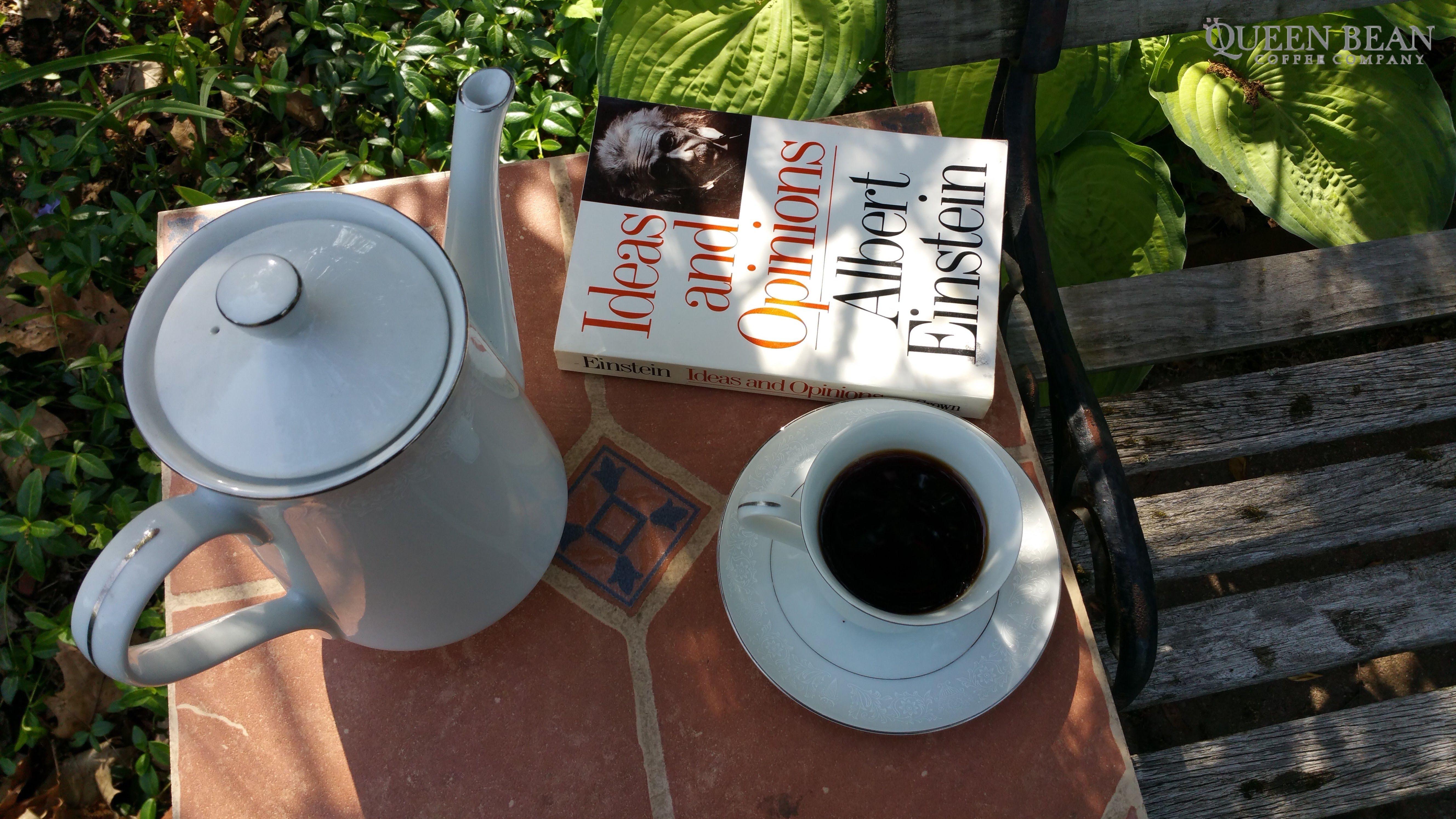 Coffee Einstein Book Reading Urbanparadise Millscoffeeroasting Thequeenbean Coffee Company Coffee Beans