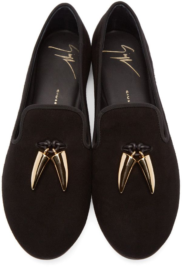 33bcfe8c70a6b Giuseppe Zanotti - Black Shark Teeth Loafers | Shoes | Loafers ...
