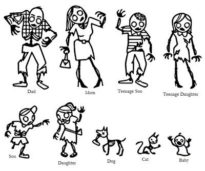 Zombie Family Sticker Vinyl Decal Creative Things Pinterest - Family car sticker decalsbest silhouette for the car images on pinterest family car