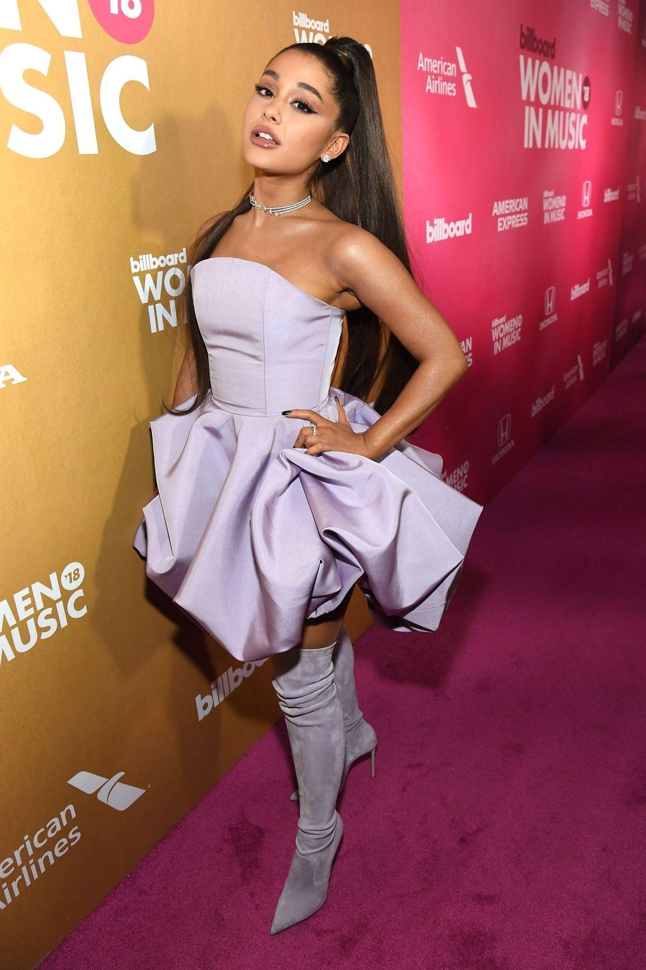 Life Size Cutout Ariana Grande Long Dress