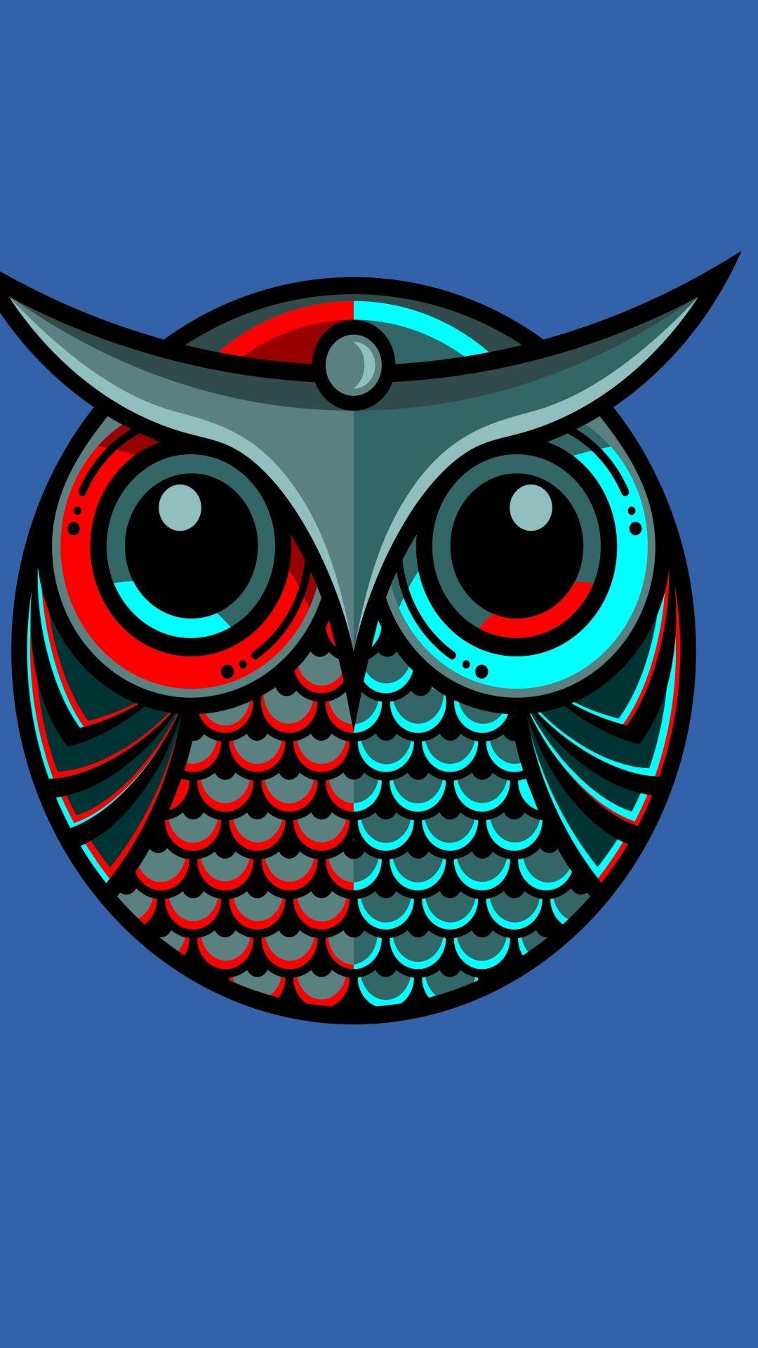 Artistic Owl 1080x1920 Mobile Wallpaper Artistic Wallpapers Wallpaper Geometric Owl