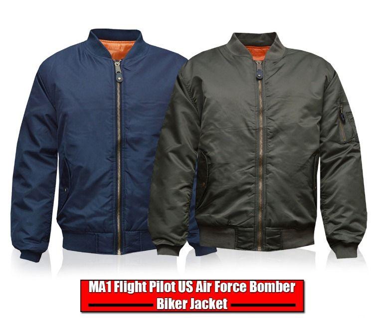 MA1 SECURITY MENS MILITARY ARMY PILOT SECURITY DOORMAN MOD BOMBER JACKET BIKER