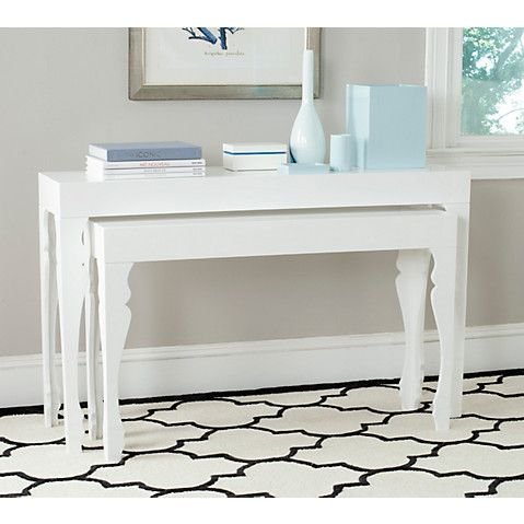 Catherine Nesting Console Tables, White $469.00