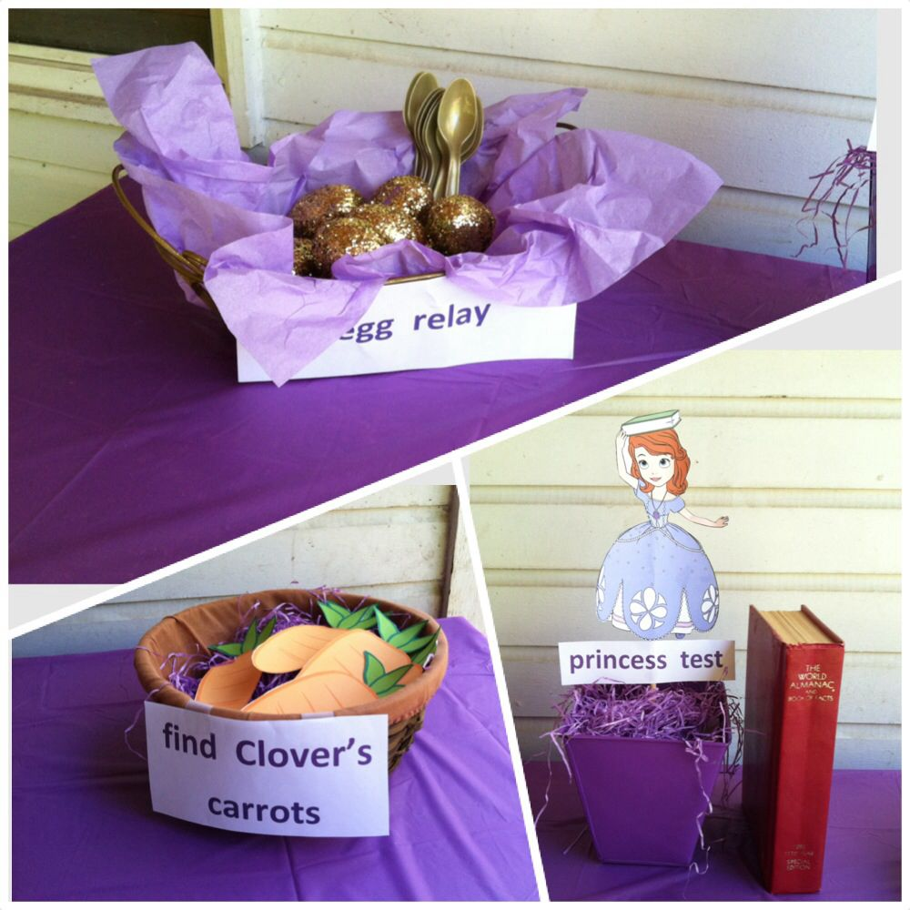 Sofia The First Party Games