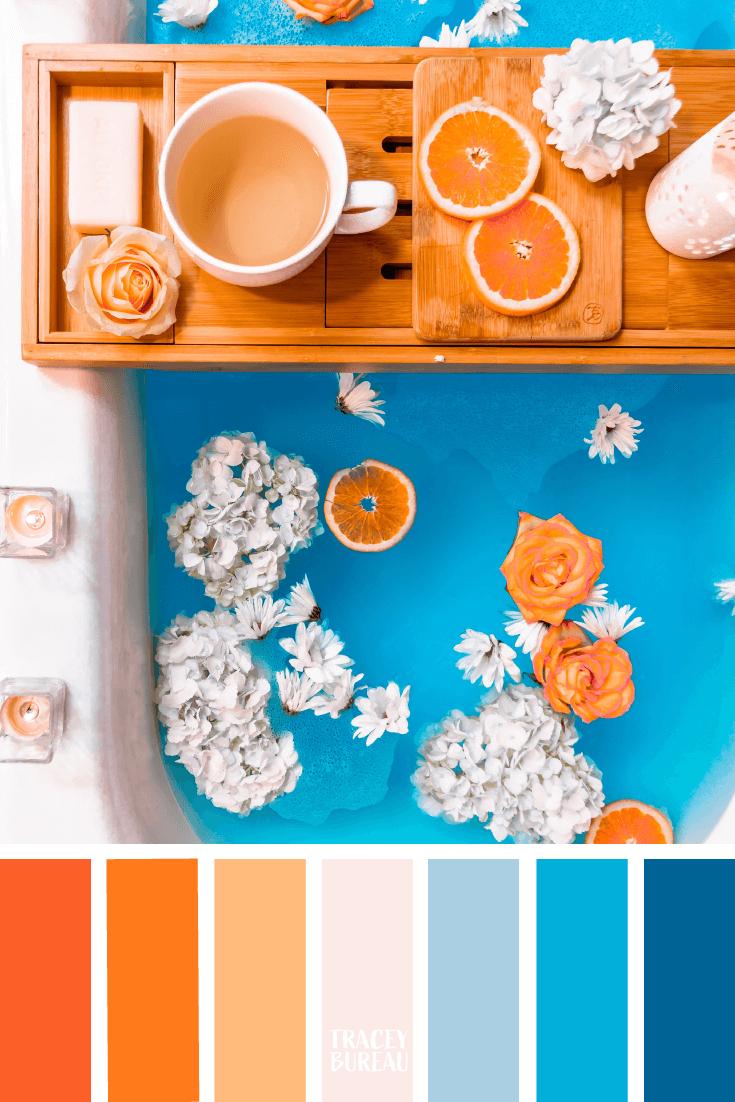 Blue Orange Color Inspired Palette By Tracey Bureau In 2020 Color Pallets Color Schemes Color Palette