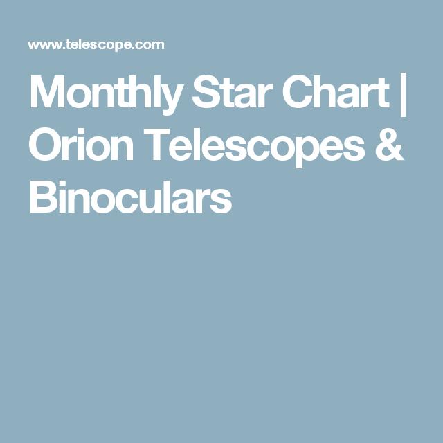 Monthly Star Chart Orion Telescopes Binoculars Education