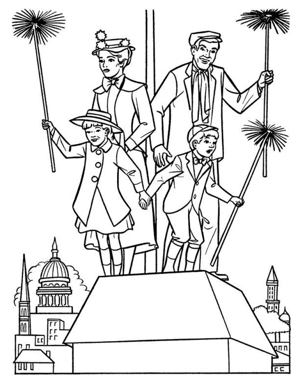 Coloring Page Mary Poppins Mary Poppins Mary Poppins Disney