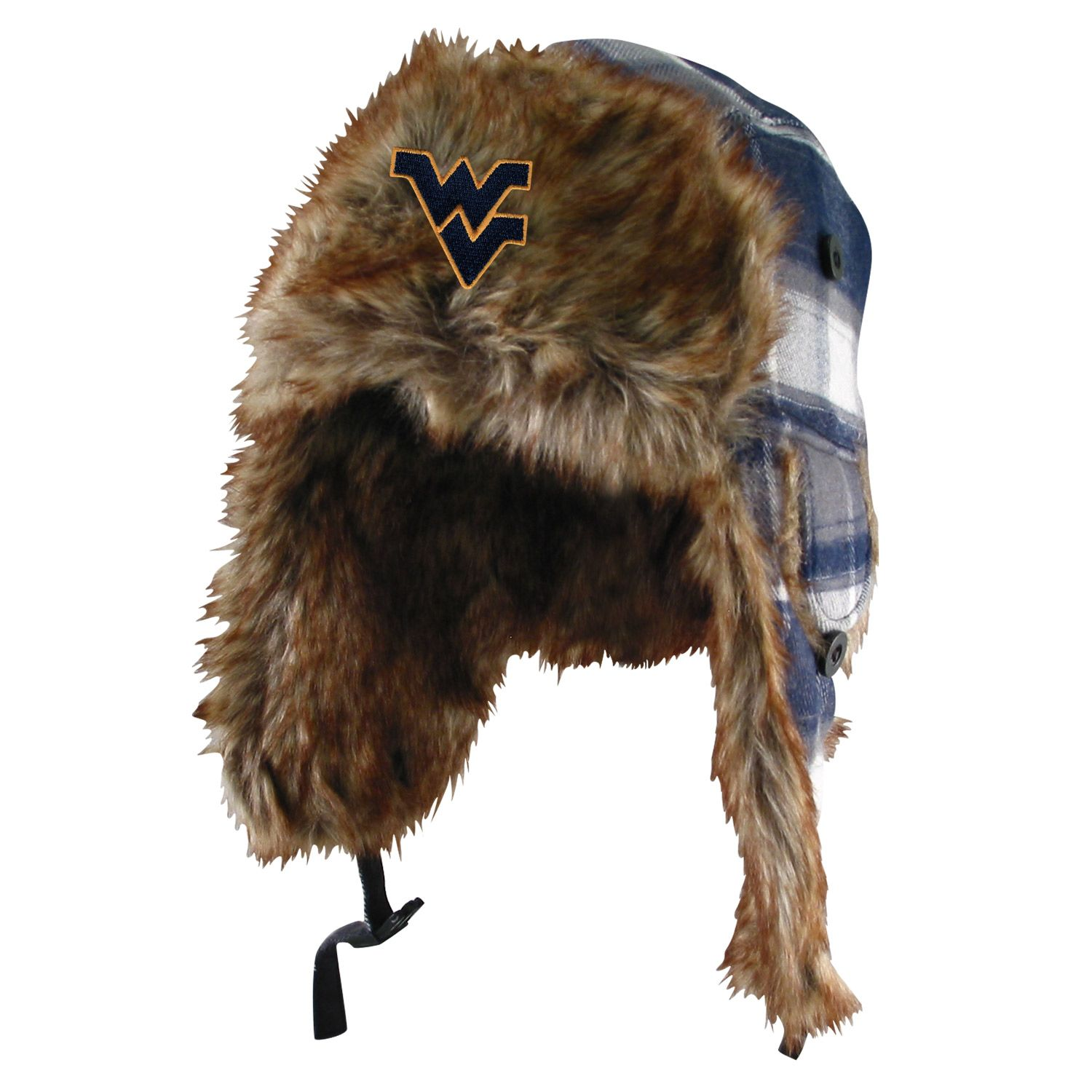 new styles 41bf1 2dc7d Have fun and stay warm with our WVU Chewie Plaid Trooper hat! features the  Flying WV embroidered on the front!