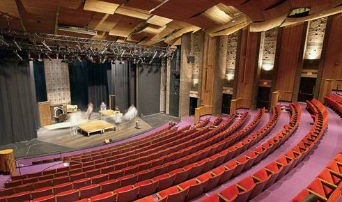 Pin By Franchesca Granaze On Theater Design Theatre Design Basketball Court Court