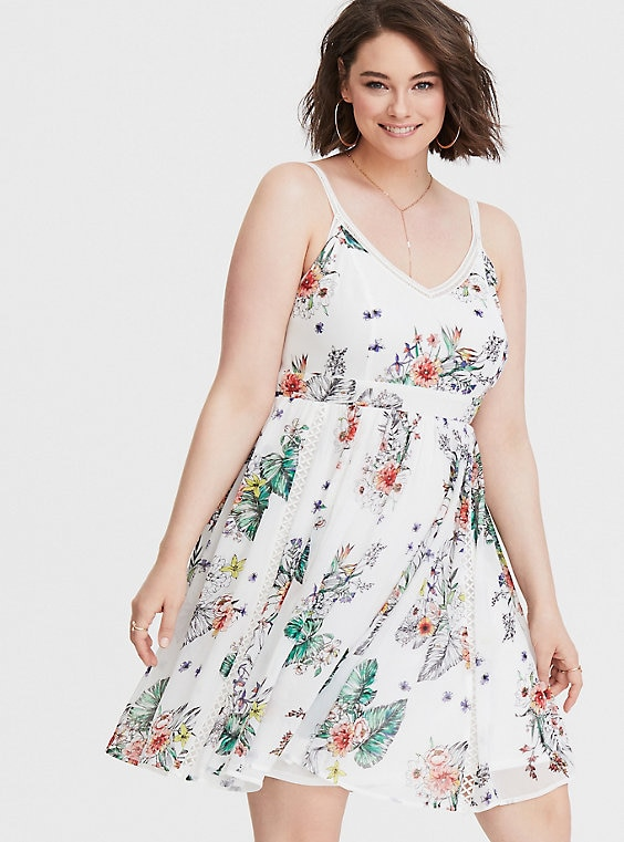 White Crochet Chiffon Mini Dress Chiffon Mini Dress Mini Dress Dresses