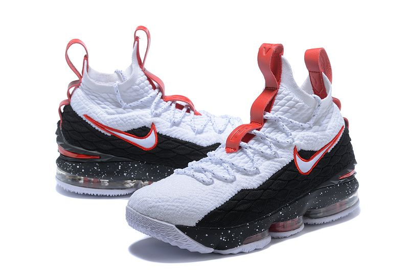 cheap for discount a57a7 6c0cb france nike lebron 14 sort ice 06f6d 2dde4  coupon code for various styles nike  lebron 15 xv white black rose mens basketball shoes james