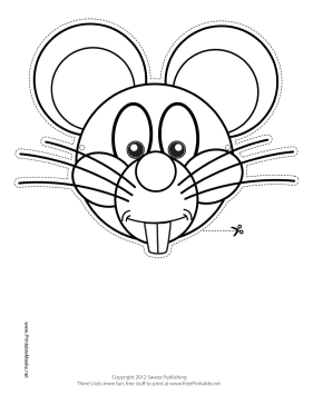 this mouse outline mask features the outline of a bucktoothed - Mouse Pictures To Color