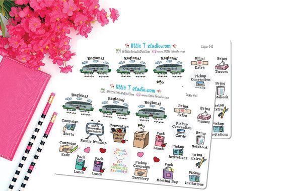 Printed Sticker Sheet - Regional Convention - Reminder