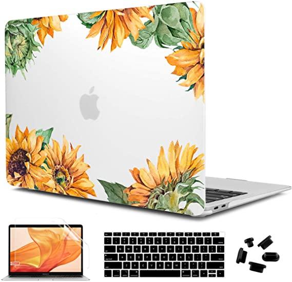 Cisoo Macbook Air 13 Inch Case 2020 2019 2018 Sunflower Matte Clear Case For A2179 A1932 Model Macbook Air Case 13 Inch Macbook Air 13 Inch Macbook Air Case