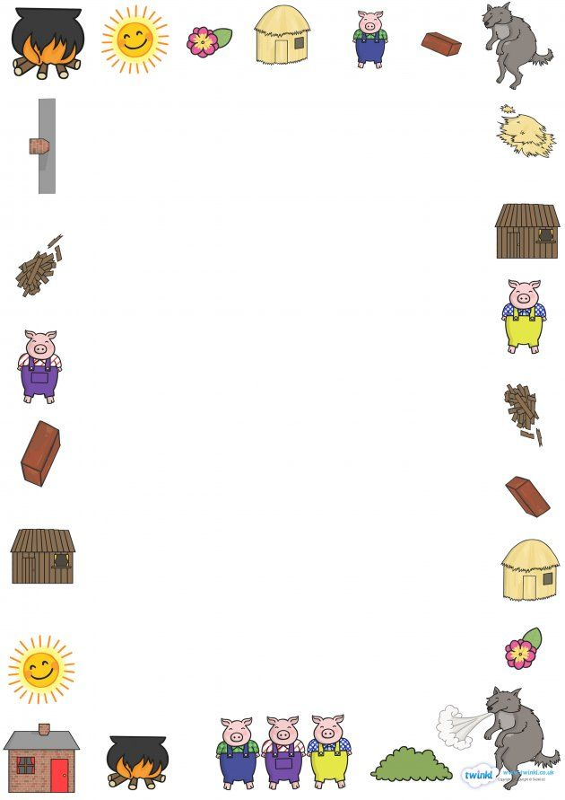 The Three Little Pigs Page Borders School Ideas For The