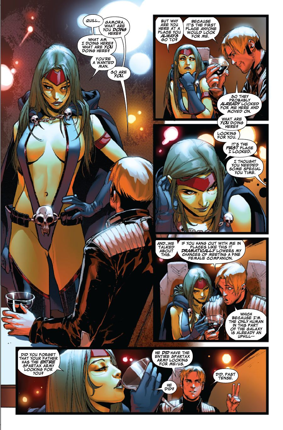 Guardians of the Galaxy | Gamora and Peter Quill | Comic