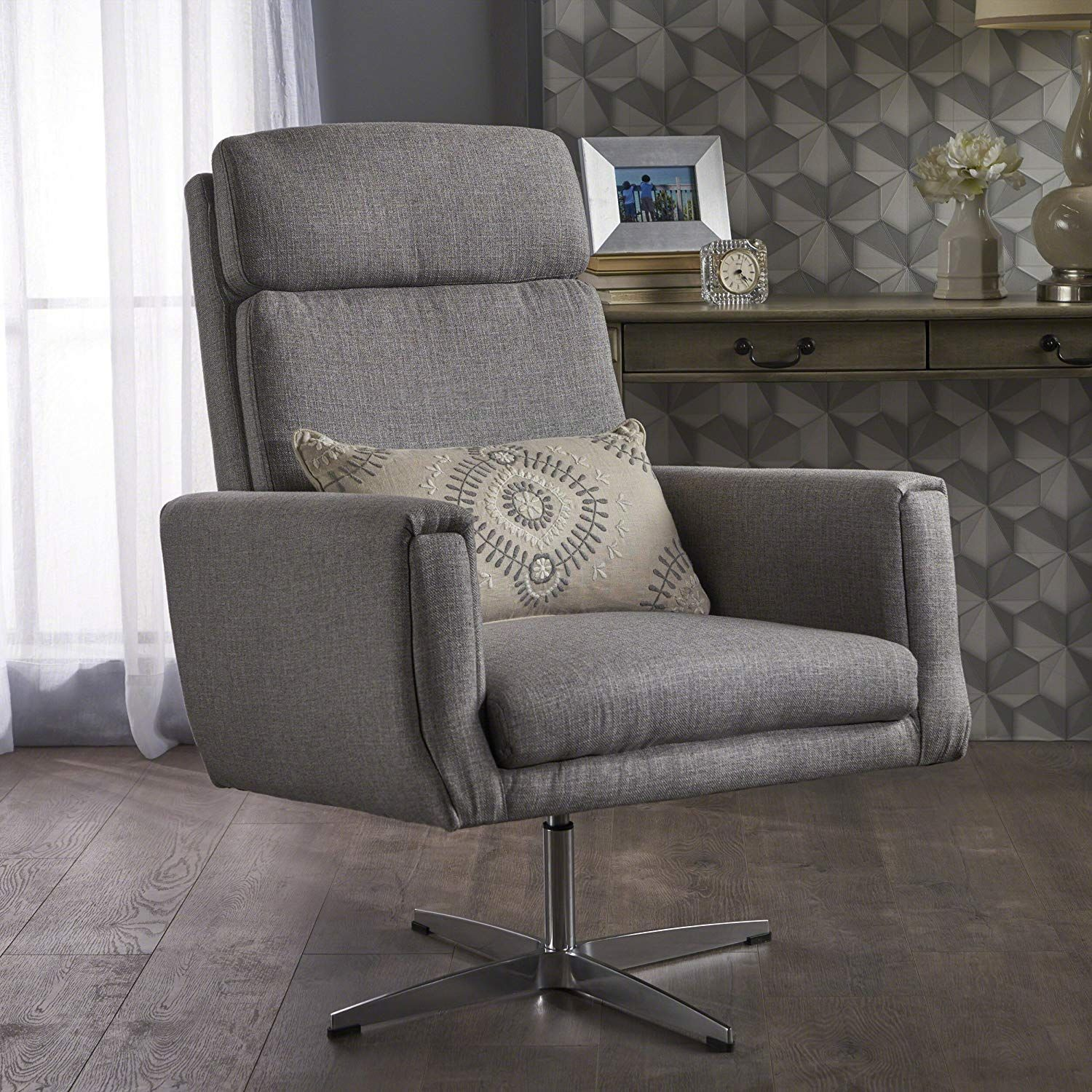 Hooper Swivel Arm Chair Perfect for Home Office or