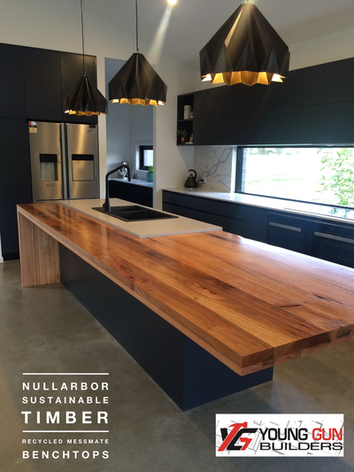 Recycled Timber Benchtops Laminated Timber Bench Tops Modern Kitchen Design Modern Kitchen Home Decor Kitchen
