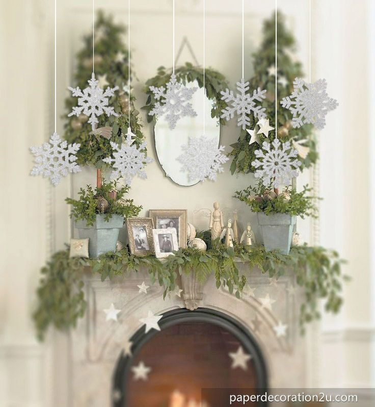 Wholesale 8pc/pack Paper Snowflake Decoration For Christmas Home - wholesale christmas decor