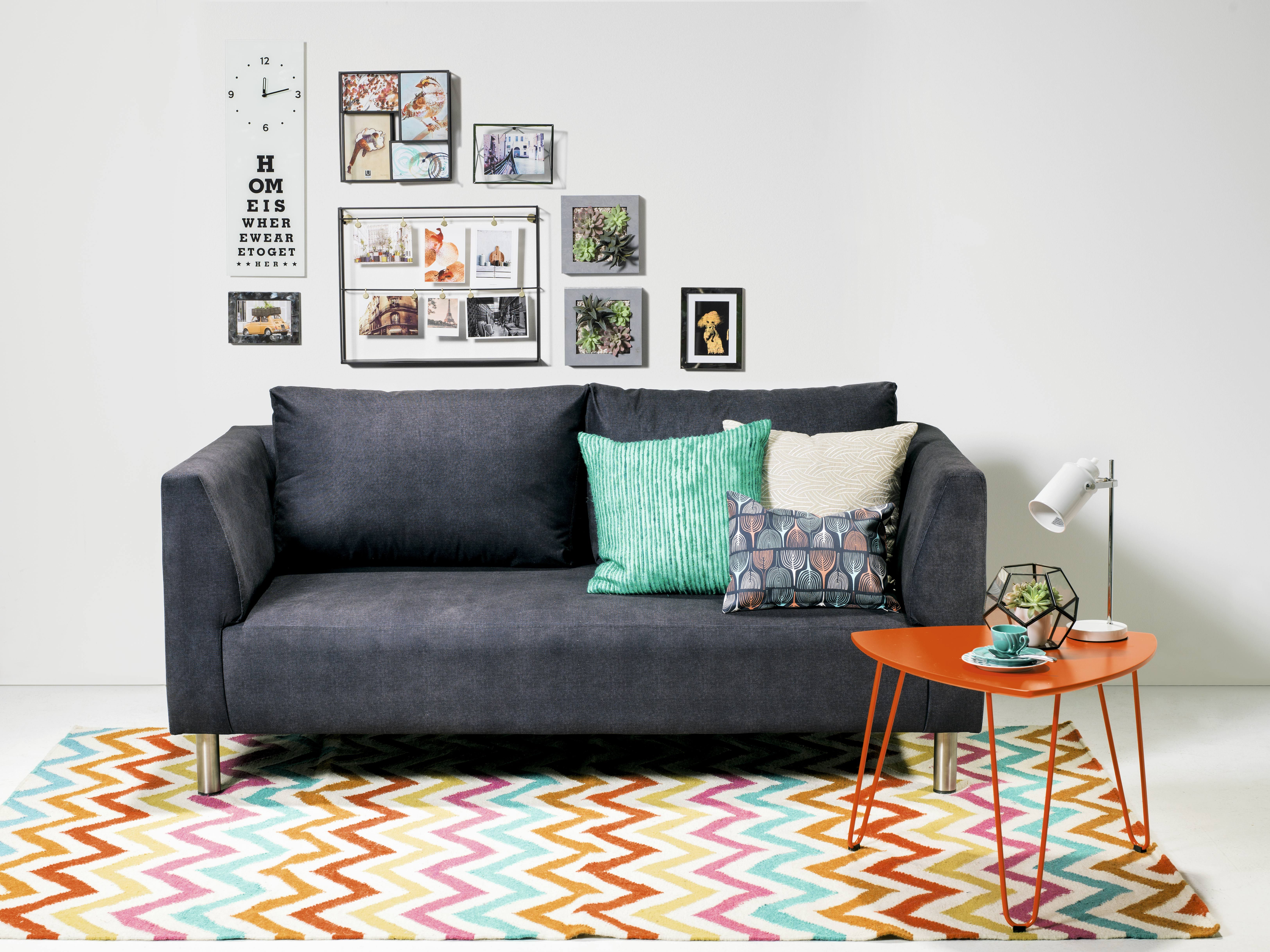 Sof lisboa de 3 puestos presentaci n en color beige gris negro homearticles homedesign - Sofas de ocasion ...