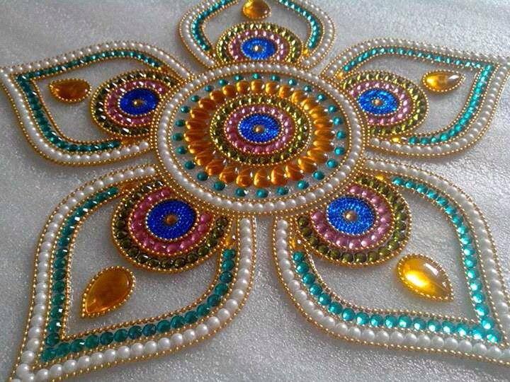 O Artesanato Das Ostras Nome ~ Pin do(a) Meghana Harite em kundan rangoli Pinterest Bordado em pedraria, Bordado e Mandalas