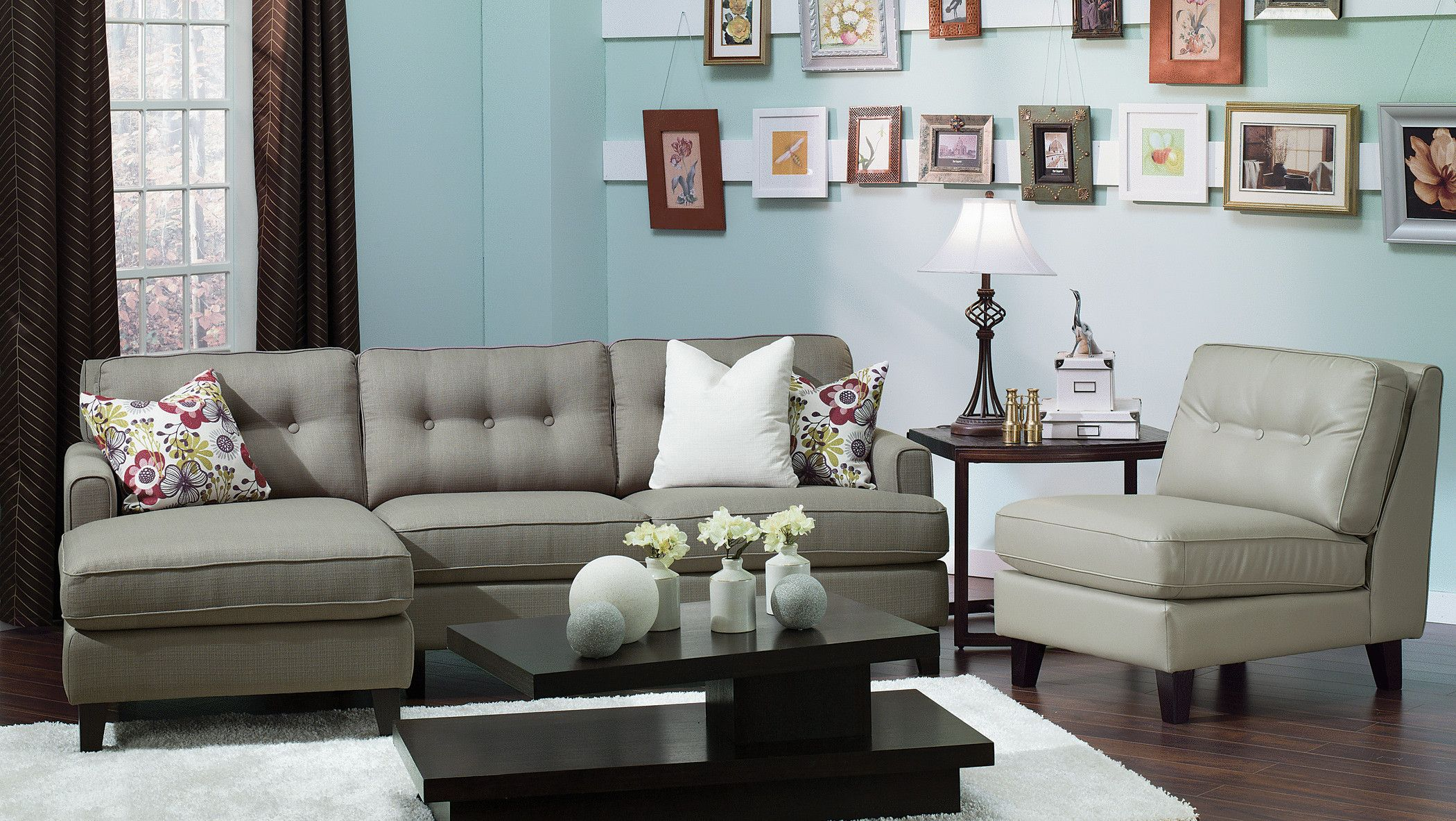 Palliser Buttonback sectional from the Runway Collection