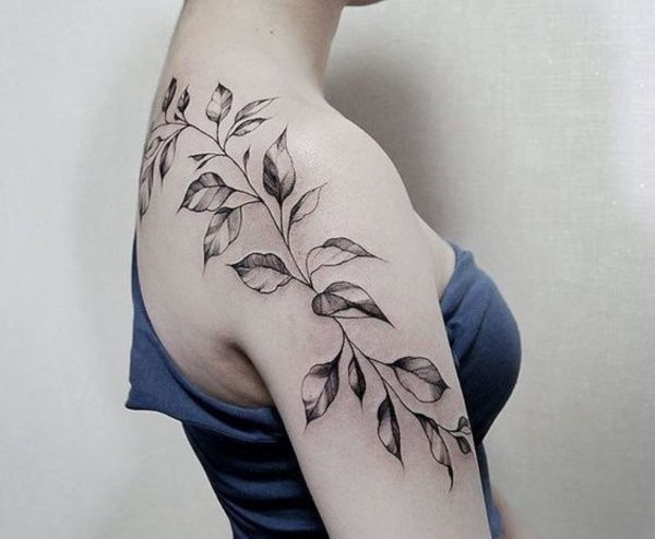 79 Simple Leaves Tattoo Design Ideas For Nature Lovers Flower