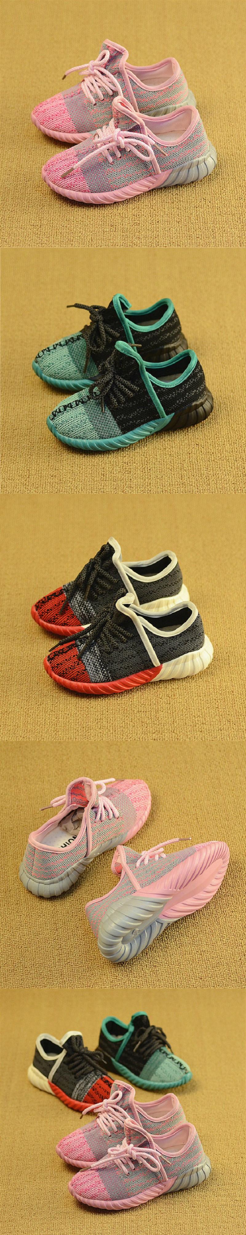 2016 New Autumn children Air Mesh shoes girls boys sport shoes antislip soft bottom kids shoe comfortable breathable sneakers