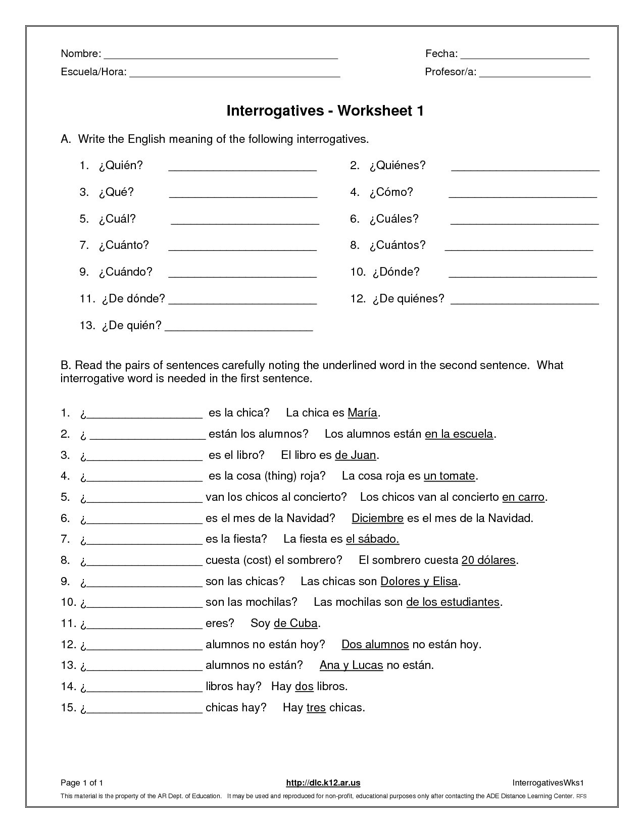 Question Worksheet Category Page 2 - worksheeto.com ...