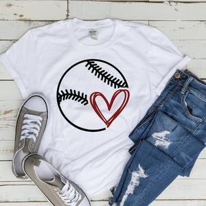 Photo of Baseball SVG Softball Fasstpitch Tee shirt Heart Love Mom Little League Kids dxf png  cut file cricu