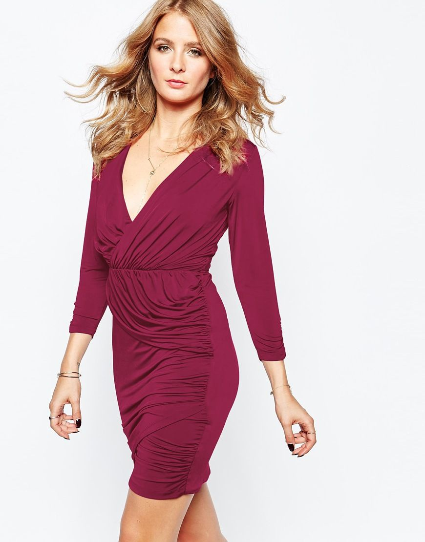 Millie mackintosh wrap dress in red party attire pinterest
