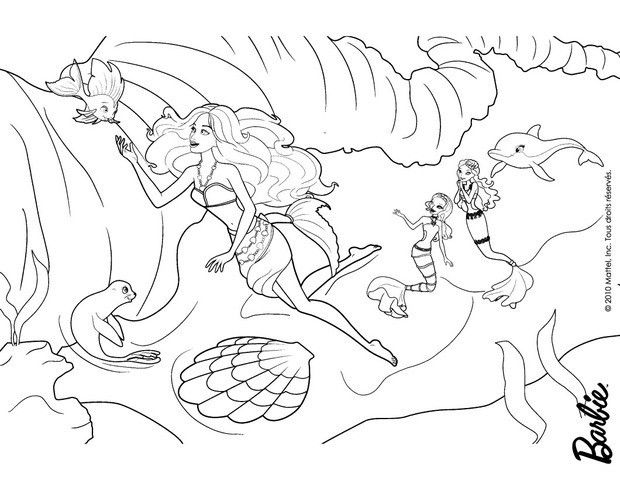 Barbie In A Mermaid Tale Coloring Page More Barbie Coloring Pages On Hellokids Com Barbie Coloring Pages Barbie Coloring Sleeping Beauty Coloring Pages