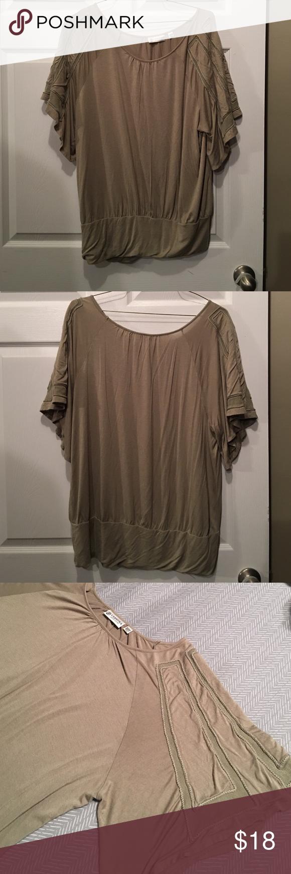 Versona plus size light olive green blouse my posh picks