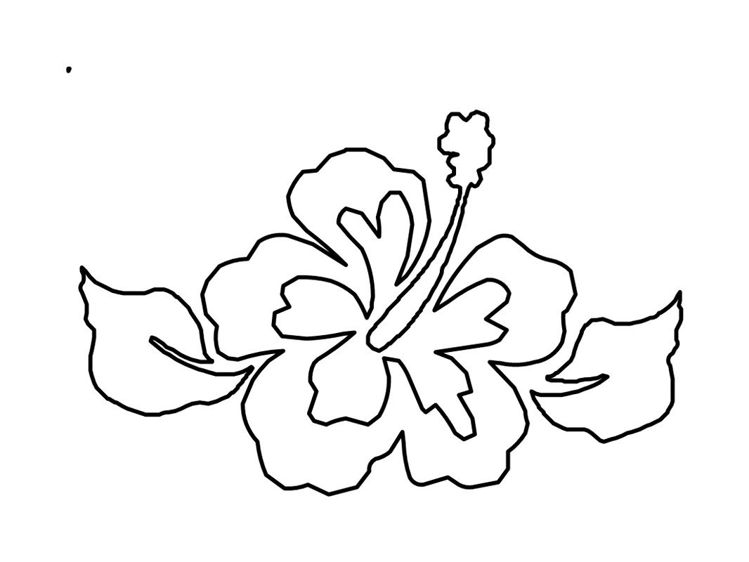 hibiscus coloring page lavender flower coloring page ... | Permanent ...