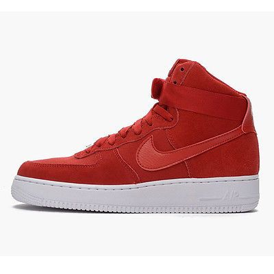 nike air force di alto 07 mens 315121 604 palestra red suede shoes