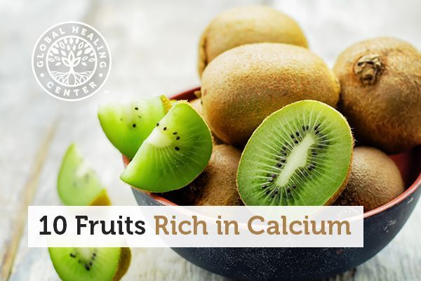 kiwi is one of many fruits that are rich in calcium nutrients