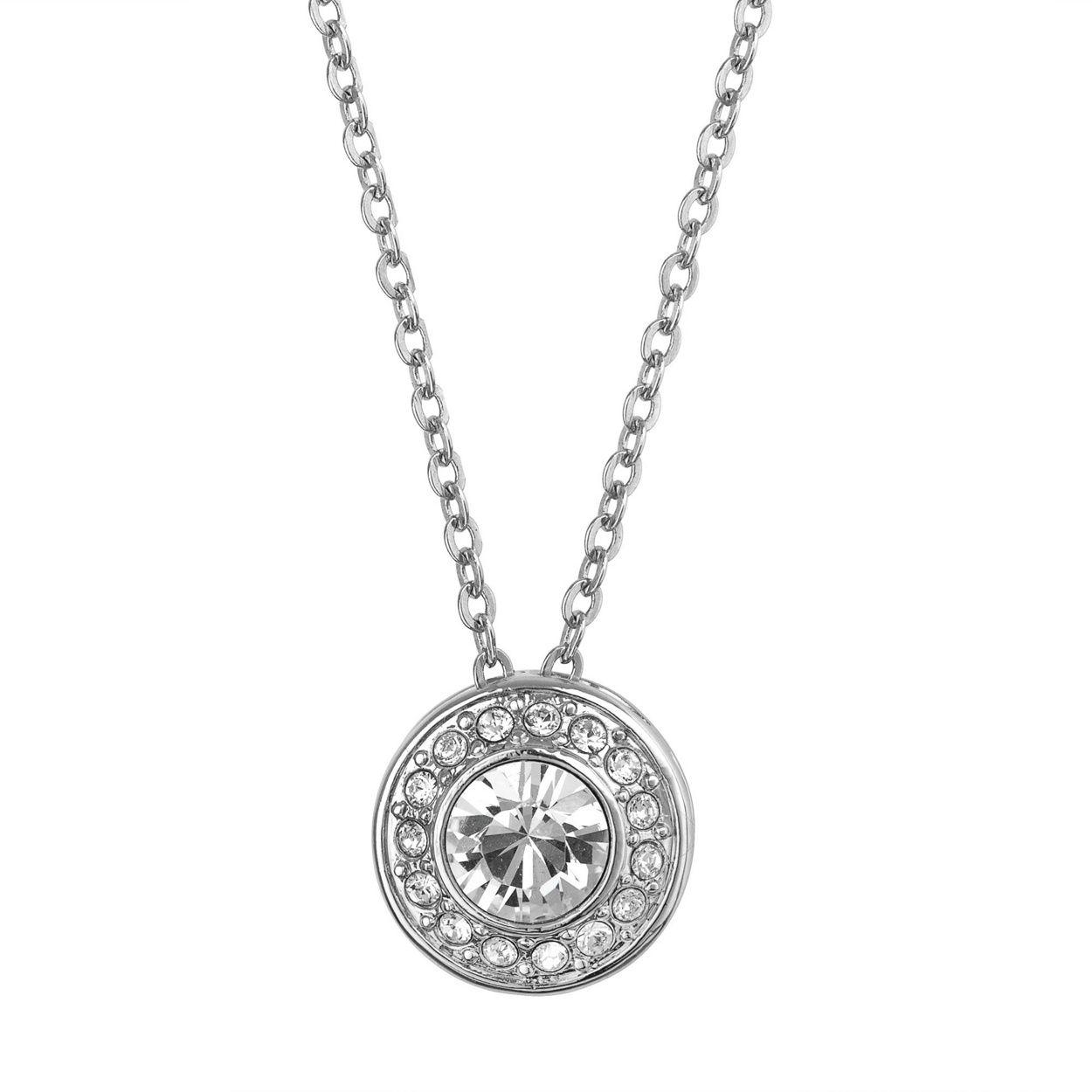 Jon Richard Crystal Clara Pendant Necklace Made With Swarovski